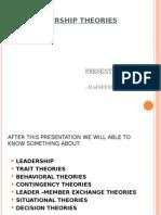 Presentation on Leadership Theories