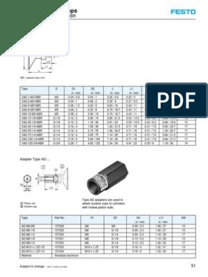 Model VAS-75-1//4-NBR Festo 36145 Suction Cup Complete