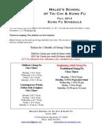 Schedule Kung Fu (1)