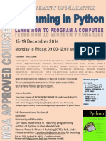 14.11.2014-3 Programming in Python - MQA Approved - December 2014