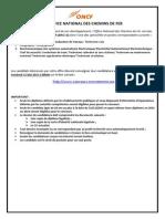 AnnoncePresseConcours2015TechniciensSpecialisesISTA