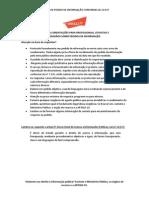 Modelo Pedido de Informação 12.527