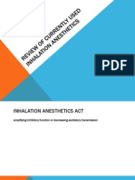 Review of Currently Used Inhalation Anesthetics