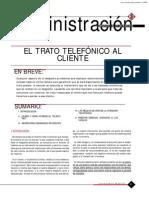 El Trato Telefonico Al Cliente-difusion Juridica