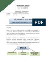ANALISIS LEY N°29783 -SST