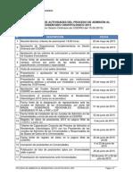 Cronograma de actividades del proceso de admisión al Residentado Odontológico 2015