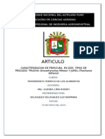 Informe 1. Trucha y Jurel