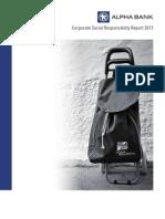 Alpha Bank - Corporate Social Responsability Report 2013
