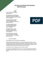 Comentario de Texto de La Rima LIII de Gustavo Adolfo Bécquer