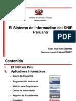 Sistema de Informacion Del Snip Peruano