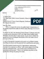 NWH Complaint against Johnsburg School District 12 board