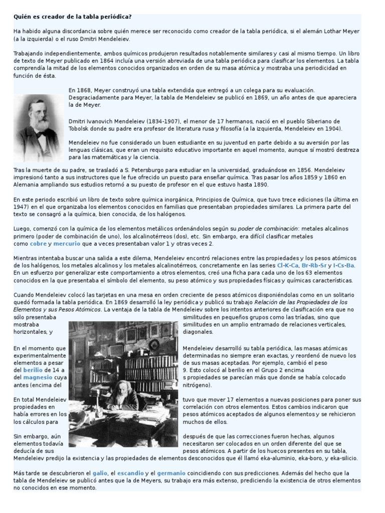 Historia de los elementos quimicoscx urtaz Choice Image