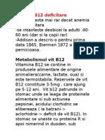 Anemia B12 Deficitara
