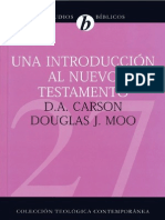 Una Introduccion Al NT - D. a. Carson y Douglas Moo