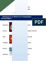 Medicamentos y Su Efecto en La Respuesta Inmunológica