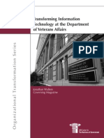 Transforming IT at the Dept of Veterans Affairs