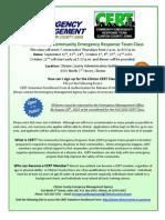 CERT Flyer - Fall 2015
