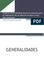 Proyecto de Factibilidad Técnico Económico Para La Elaboración
