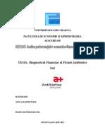 Diagnostic Financiar Antibiotice Iasi
