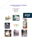 Juice Extractor Comparison 2007