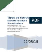 organizaciones de estructura simple  e inestructuradas