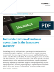Industrialization of Business Operations in the Insurance Industry