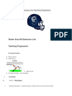 Defensive Line Teaching Progression