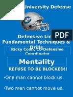 Docslide.us Chowan University Defense Defensive Line Fundamental Techniques Drills Ricky Coon Co Defensive Coordinator