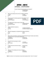 Jstse-2014-Question Paper & Solutions