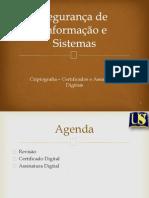 t Aula6 Criptografia Certificadoeassinaturadigital 130510102639 Phpapp01