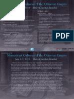 Ottoman Manuscript Workshop 6 June 2014