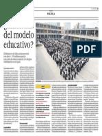 ¿Emblema del modelo educativo?