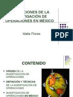 Aplicaciones de La Investigación de Operaciones en México