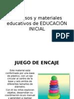 2 - Recursos y Materiales Educativos de EDUCACIÓN INICIAL