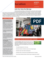 Gay Marriage Lesson Plan