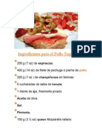 Ingredientes Para El Pollo Napolitano