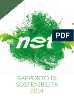 NET Rapporto di sostenibilità 2014