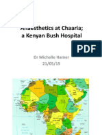 Anaesthesia in a Bush Hospital in Kenya