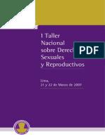 1er Taller Nacional sobre Derechos de Salud Sexual y Reproductiva - Colegio Médico del Perú