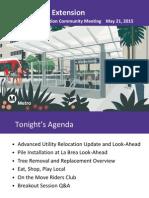 Purple Line Extension Construction Community Meeting