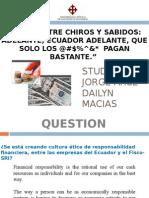 Etica aplicada en el Ecuador