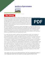 DistortedPerspectives of Governance