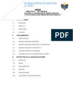 Directiva de Ejecucion de Obras