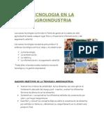 Tecnologia en La Agroindustria