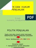 Politik Dan Hukum Penjualan