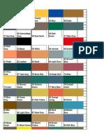 Airfix Color Chart PDF