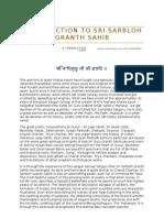 26459457 Introduction to Sri Sarbloh Granth Sahib