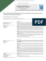 Efecto Agudo de Dos Intensidades de Ejercicio Aeróbico Sobre La Presión Arterial (2014)