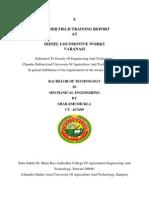 Summer Training Report, DLW Varanasi