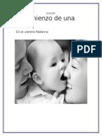 El Comienzo de Una Vida en El Vientre Materno